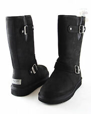 Women UGG Australia Sutter Boot 1005374 Black Leather 100%Authentic Brand New