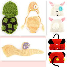 Rabbit Handmade Snail Crochet Photo Baby Outfit Prop Newborn -9M Costume Knit