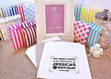 Personalised Birthday Sweet Bags VINTAGE RETRO SHABBY Candy Cart Wedding Favours