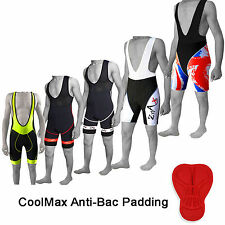 Mens Cycling Bib Shorts Cycle Bib Tights Short Cool Max Anti-Bac Padding QUALITY
