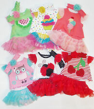 Starting Out Infant Girls 3pc Outfit Headband, Shirt and Skort Sizes NB 3M tutu