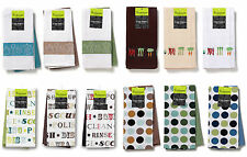 Cooksmart 100% Cotton 2 Pack Tea Towel Set in a choice of designs