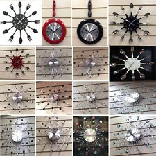 Large/Small Crystal Cutlery Wall Clocks Kitchen Bedroom Home Decor New Modern