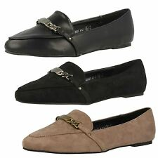 Ladies Spot On Pointed Toe Smart/Casual Flats