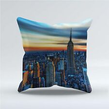 SUEDE STYLE 18x18 Inch FILLED THROW CUSHION - Empire State Building New York