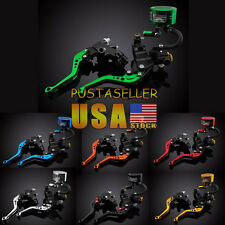Levers Set Master Cylinder Fluid Reservoir Universal For NINJA 250R ZX6R 7 Color