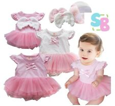 BABY GIRLS PINK FAIRY PRINCESS FANCY DRESS UP BIRTHDAY PARTY COSTUME OUTFITS
