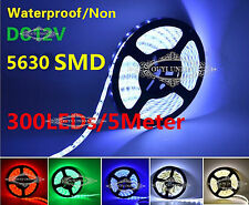 5M Flexible SMD 5630 LED Strip Light IP65/Non Waterproof DC 12V 300LEDs 60LEDs/M
