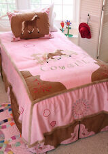 Cowgirl Horse Complete Bedroom Set with Matching Curtains and Pillows