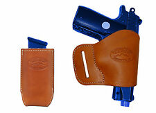 NEW BarsonyTan Leather Yaqui Holster + Mag Pouch SIG, Walther 380 UltraComp 9 40