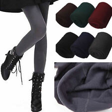Women Winter Warm Slim Stretch Footless Leggings Thick Stockings Tights Pants