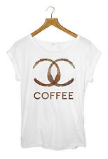 DESIGNER COFFEE T-shirt Womens White - Small to Large Available