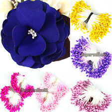 270XArtificial Double Tip Floral Stamen Flower Filler Card Decoration for Party