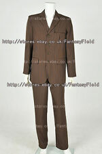Doctor is Who Cosplay Dr. Brown Pinstripe Suit cosplay costume Halloween party