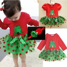 Baby Girl XMAS Tree dress christmas Dress TUTU dress Tulle Dress baby headband