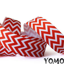 "7/8""22mm Zigzag Line Printed Grosgrain Ribbon 10/50 Yards Hairbow Wholesale"