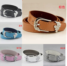 Women's Ladies Leather Fashion Cute Skinny Belts Thin All Sizes Colors Casual