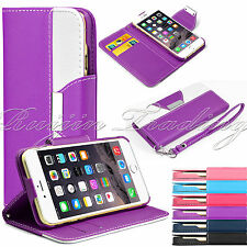"For Apple iPhone 6 4.7"" Magnetic Flip PU Leather Pouch Wallet Stand Case Cover"