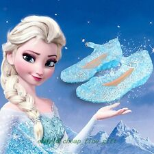 Xmas Gift Frozen Elsa Princess Cosplay Shoes Girls Kids Shoes US 10 11 12 13 1 2