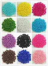 500Pcs 6mm Acrylic Round Pearl Spacer Loose Beads 14 Colors