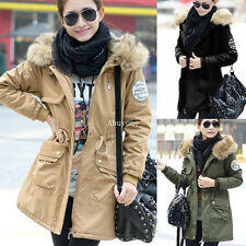 Femme Manteau Fleece Veste à Capuche Thicken Parka Blouson Coat Jacket