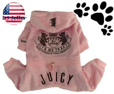 #16 Juicy Couture dog pet Embroidery clothes Sweatshirt tracksuit Pink hoodie