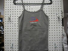 Sinister Cycle Ladies Gray Spaghetti Strap Tank with Sinister Logo