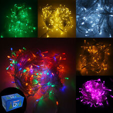 100/200/300 LED String Fairy Lights Christmas Xmas Party Indoor/Outdoor Lamp UK