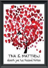 A3 Personalised Signature Signing Print Wedding Tree Guest Book  Alternative