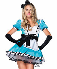Leg Avenue Sexy Women's Costume Charming Alice in Wonderland Blue Dress Outfit