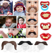 Teeth Mustache Baby Boy Girl Infant Pacifier Orthodontic Dummy Beard Nipples