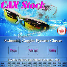 New Adult Myopia Swimming Goggles Anti Fog UV protective - 2.5 Free Shipping