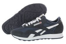 Reebok Classic Nylon Suede 39750 Navy Casual Retro Shoes Medium (B, M) Womens
