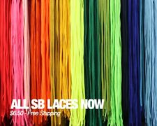 NEW FULLY LACED SB LACES REPLACEMENT SHOELACES FOR NIKE DUNK SB LOW 48 INCH