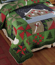 Gingerbread Bedding Full Queen King Quilt Sham Valance Christmas Holiday Decor