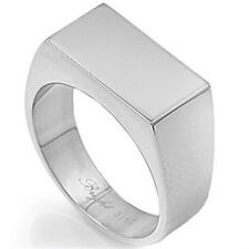Stainless Steel Emerald Shape Stamp Right Hand Men's Stylish Wide Ring Size 9-14