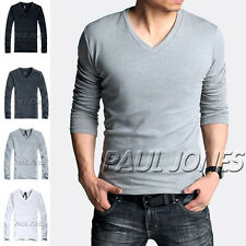 CLEARANCE Mens Slim Fitted Longsleeve T-Shirt Cotton Muscle Tops Bottoming Shirt
