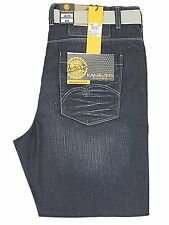 "BNWT  MENS BIG KING SIZE RELAXED FIT KAM JEANS  FREE BELT MID BLUE 40"" TO 60"""
