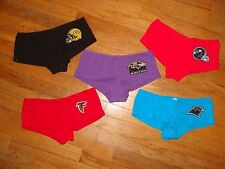NFL Womans Boyshort Underware Panties SEXY cotton CHOOSE Color & Team NEW sz Med
