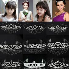 Silver Wedding Bridal Prom Rhinestone Crystal Hair Pin Comb Crown Headband Tiara
