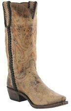 Lucchese M2612 54 Mens Tan Road Distressed Calf Leather Western Cowboy Boots
