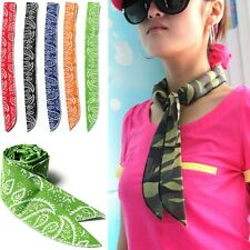 Cooling Cotton Bandana Headband Head Neck Scarf Wrist Band Wrap Scarves Headwear