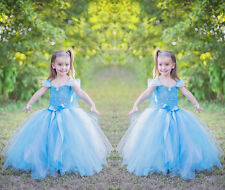 Pageant Baby Girls Kids Princess Party Xmas Prom Tulle Tutu Formal Dresses Skirt