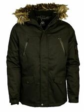 MENS BRAND NEW HOODED FORAY STORM PARKA JACKET IN BLACK COLOUR SIZE M