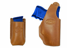 New Barsony Tan Leather OWB Holster + Mag Pouch Astra Beretta Compact 9mm 40 45