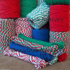 BEAUTIFUL CHUNKY COTTON BAKERS TWINE, 4mm Cord, UK Made, divine range of colours