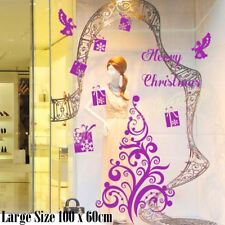 Large Christmas Tree Xmas Present Angel Wall Shop Window Decoration Sticker