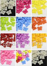 100pc Delicate Cute Acrylic sewing Buttons 2-Hole Dyed Butterfly X-BUTT-E054-DSX