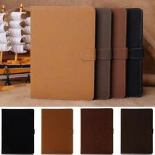 Folio Soft Leather Smart Magnetic Flip Wallet Case Cover Stand For Apple iPad