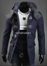 Fashion Men's Clothes Version Of The Slim Fit Hoody Woolen Coat W1938 GBW